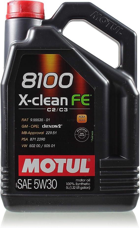 6 Liter Original Motul 8100 X Clean Fe 5w 30 Motoröl Gm Mb Psa Auto