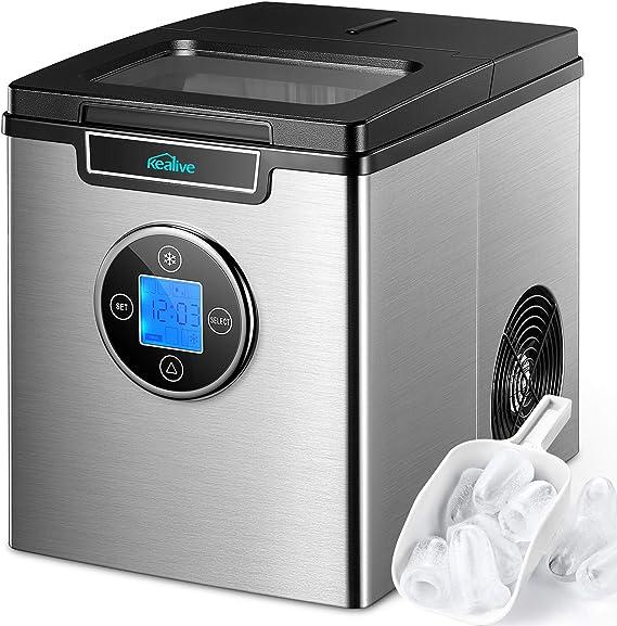 fuwinkr Elektrische Haushalts-Eismaschine Joghurtmaschine Pink Edelstahl-Innenbeh/älter f/ür zu Hause