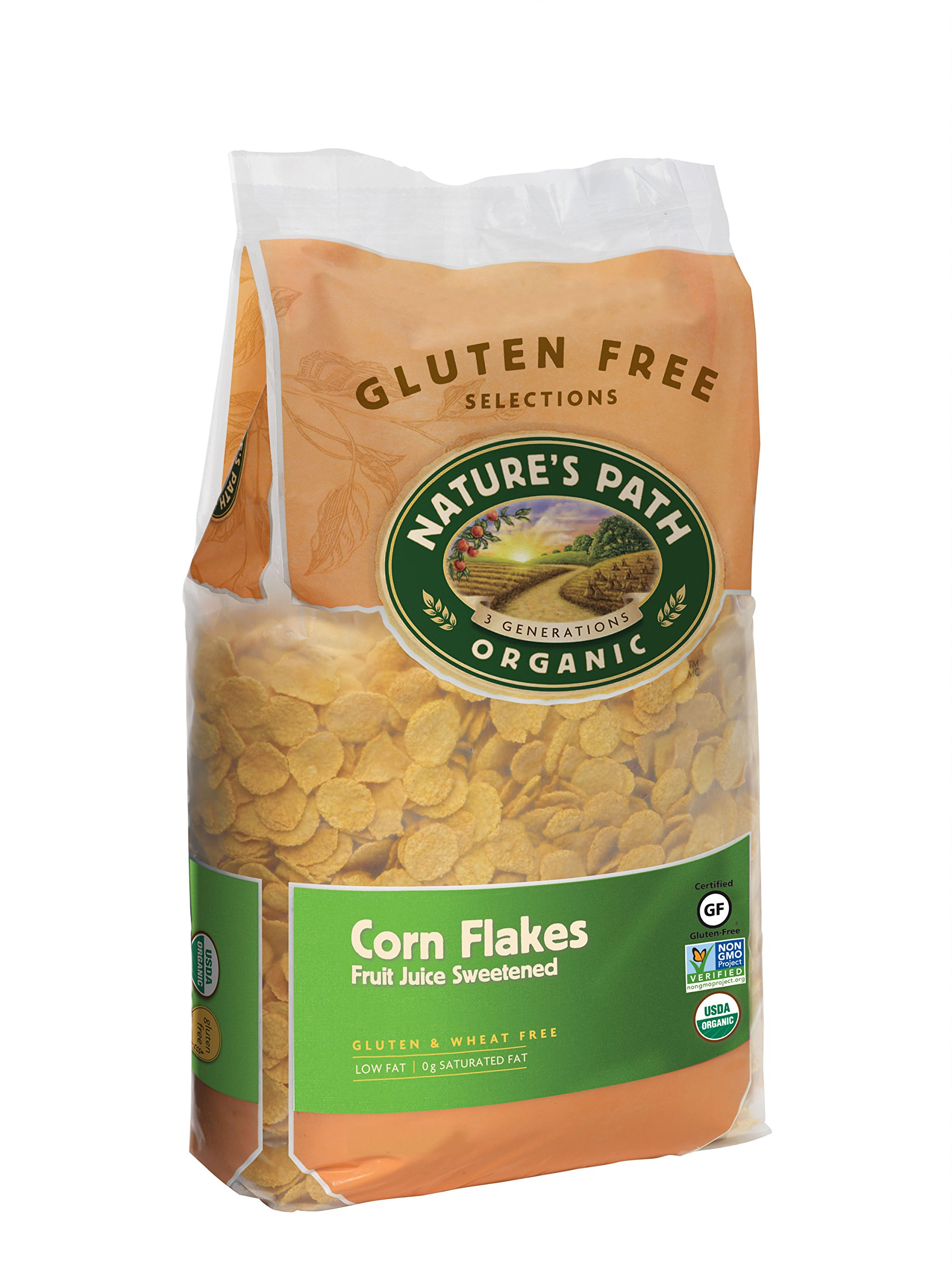 Nature's Path Organic Gluten-Free Cereal, Corn Flakes Sweetened with Fruit Juice, 26.4 Ounce Bag (Pack of 6)