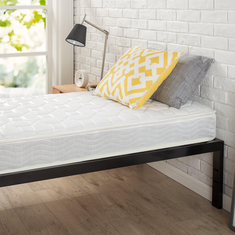 "Zinus Modern Studio 14 Inch Platform 1500 Metal Bed Frame, Cot size, 30"" x 75"", Mattress Foundation, no Boxspring needed, Wood Slat Support, Good Design Award Winner, Narrow Twin by Zinus (Image #2)"