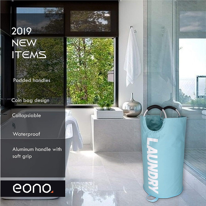 Gran Servicio de lavander/ía Eono  Brand 82L Bolsas Cestos para la Colada con Bolso de la Moneda Plegable Bolsa de Lavado de Ropa Bin Az/úl Oscuro