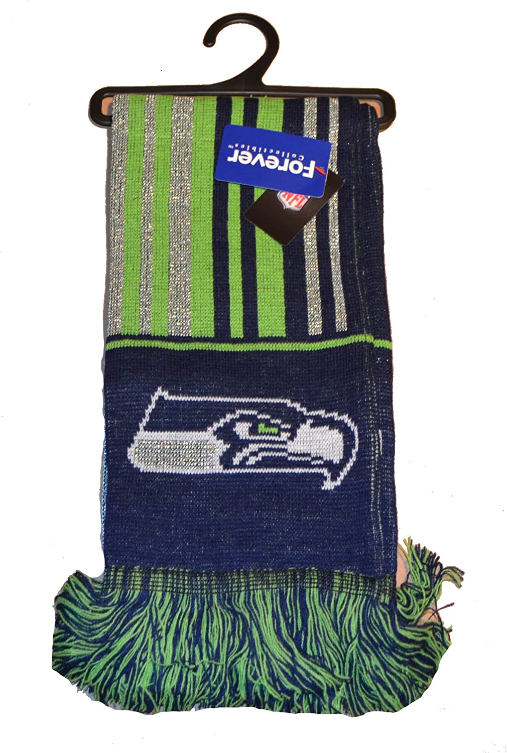 Forever Collectibles NFL Glitter Scarf Offical Team Logo Football Winter Knit Scarves