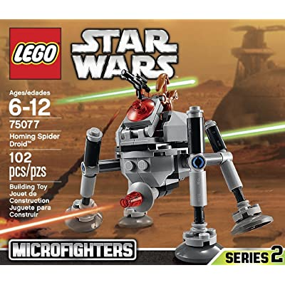 LEGO, Star Wars Microfighters Series 2, Homing Spider Droid (75077): Toys & Games [5Bkhe1002416]