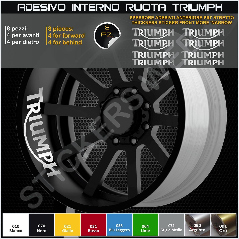 Triumph Daytona Street Triple Internal Decal Stickers Strips for Wheel Rims Code 0291 010 Bianco