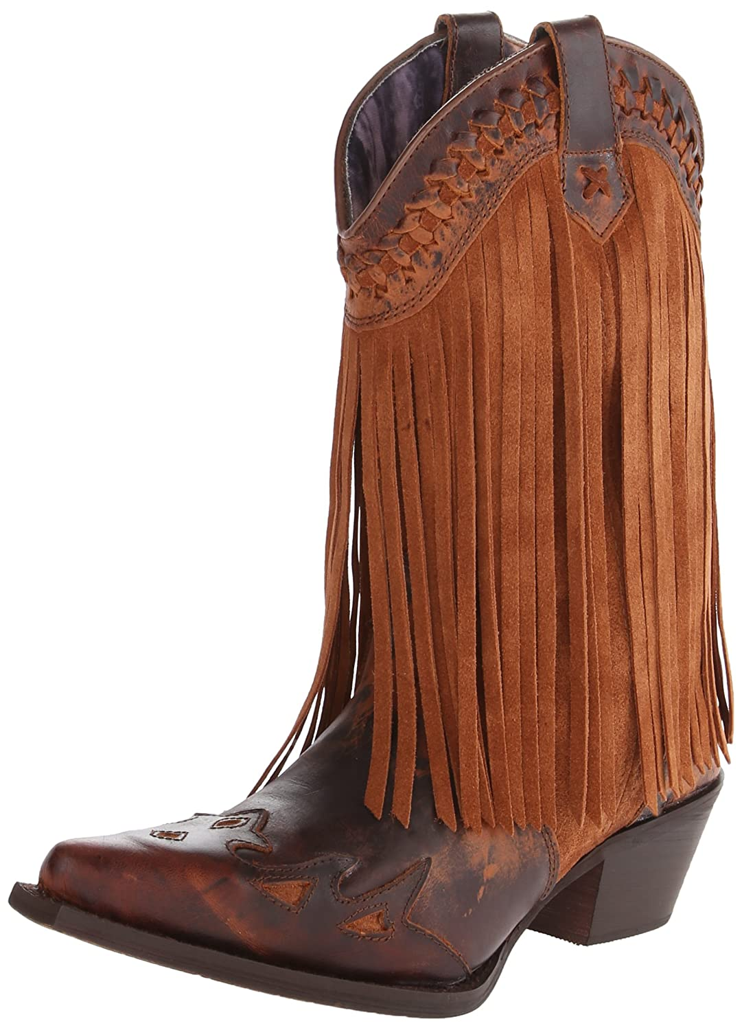 Dingo Women's Heart Throb Western Boot B00ITE13WI 7 B(M) US|Rust Triad