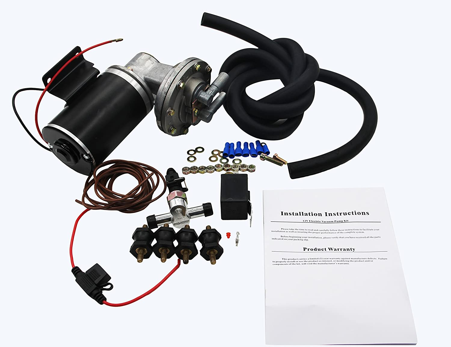 New Electric Brake Vacuum Pump Kit For Booster 28146 Wiring Diagram Sales Cell Phones Accessories
