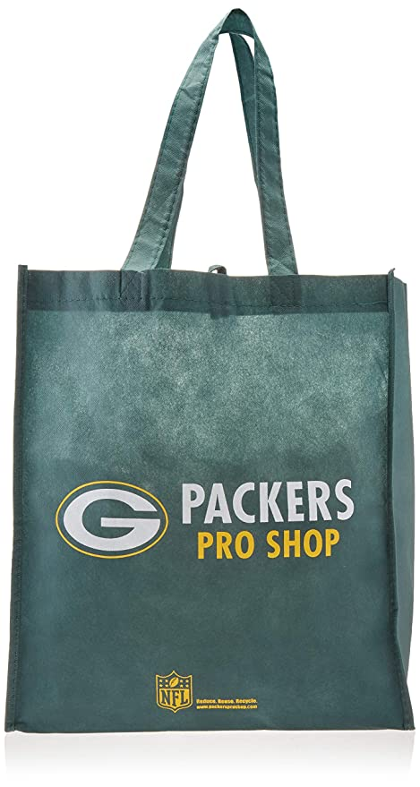 225be73107 Image Unavailable. Image not available for. Color  FOCO Green Bay Packers  Exclusive Printed Non-Woven Polypropylene Reusable Grocery Tote ...