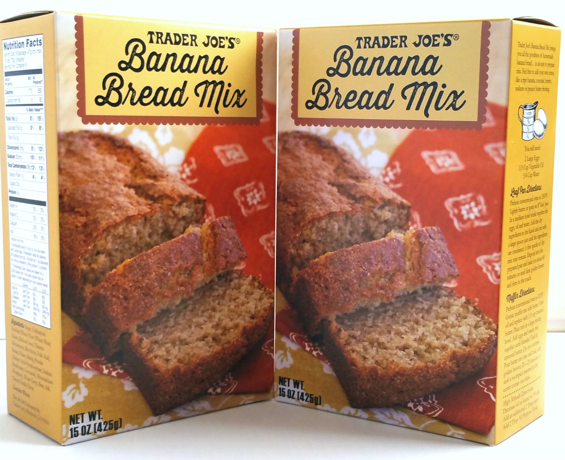 Trader Joe's - Banana Bread Mix - Net Wt. 15 Oz (425g) - 2 Boxes