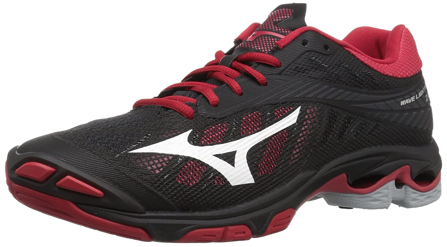 Black Red Mizuno Women's Wave Lightning Z4 Volleyball shoes
