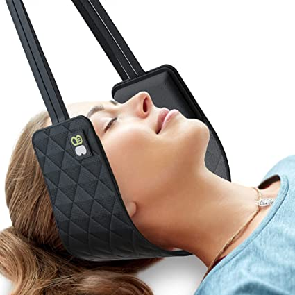 Amazon Com Bonsai Wellness Cervical Traction Hammock For Neck And Head Chiropractic Alignment Stretching Device For Shoulder And Back Pain Portable Physical Therapy Relief For Headaches Migraine And Stress 3b Health Personal Care