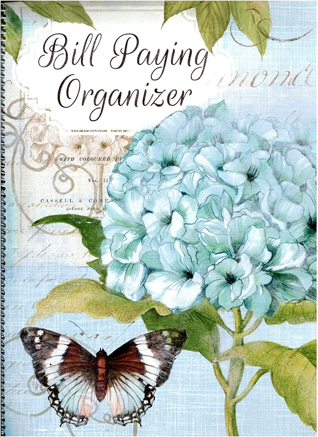 Monthly Bill Paying Organizing Organizer Budget Book with Pockets - Hygrangea