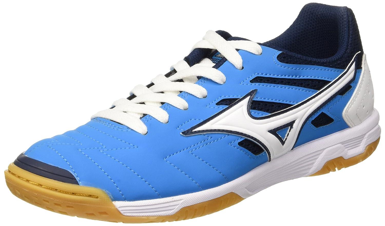 Mizuno Herren Sala Classic in Fuszlig;ballschuhe, Safety Yellow/Turquoise, 47 EU  42.5 EU|Blau (Diva Blue/White)