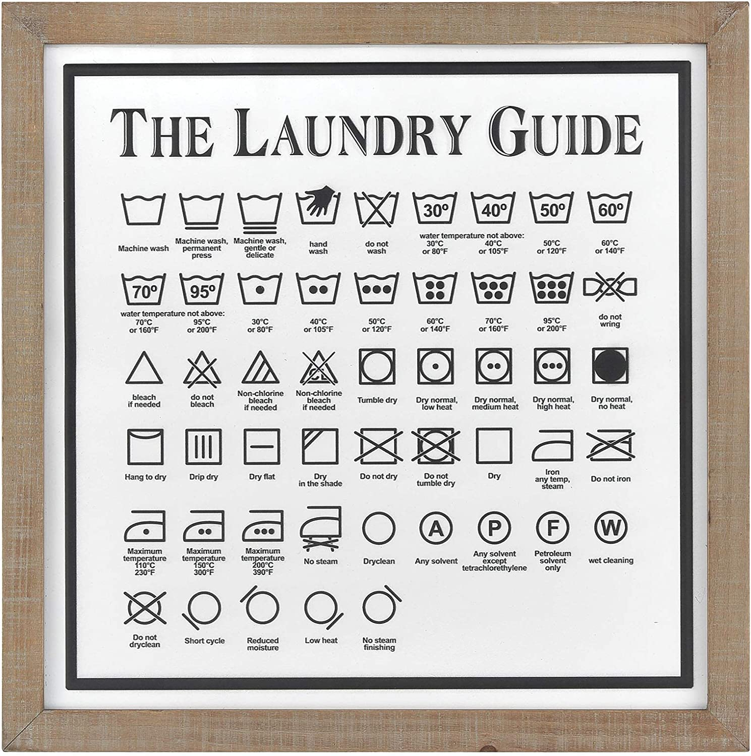 Elk Home Laundry Guide II Wall Decor in White and Black