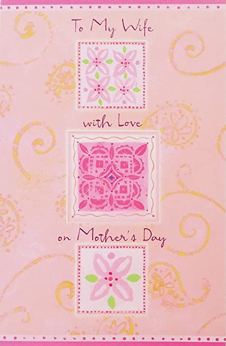 amazon com to my wife with love on mother s day greeting card