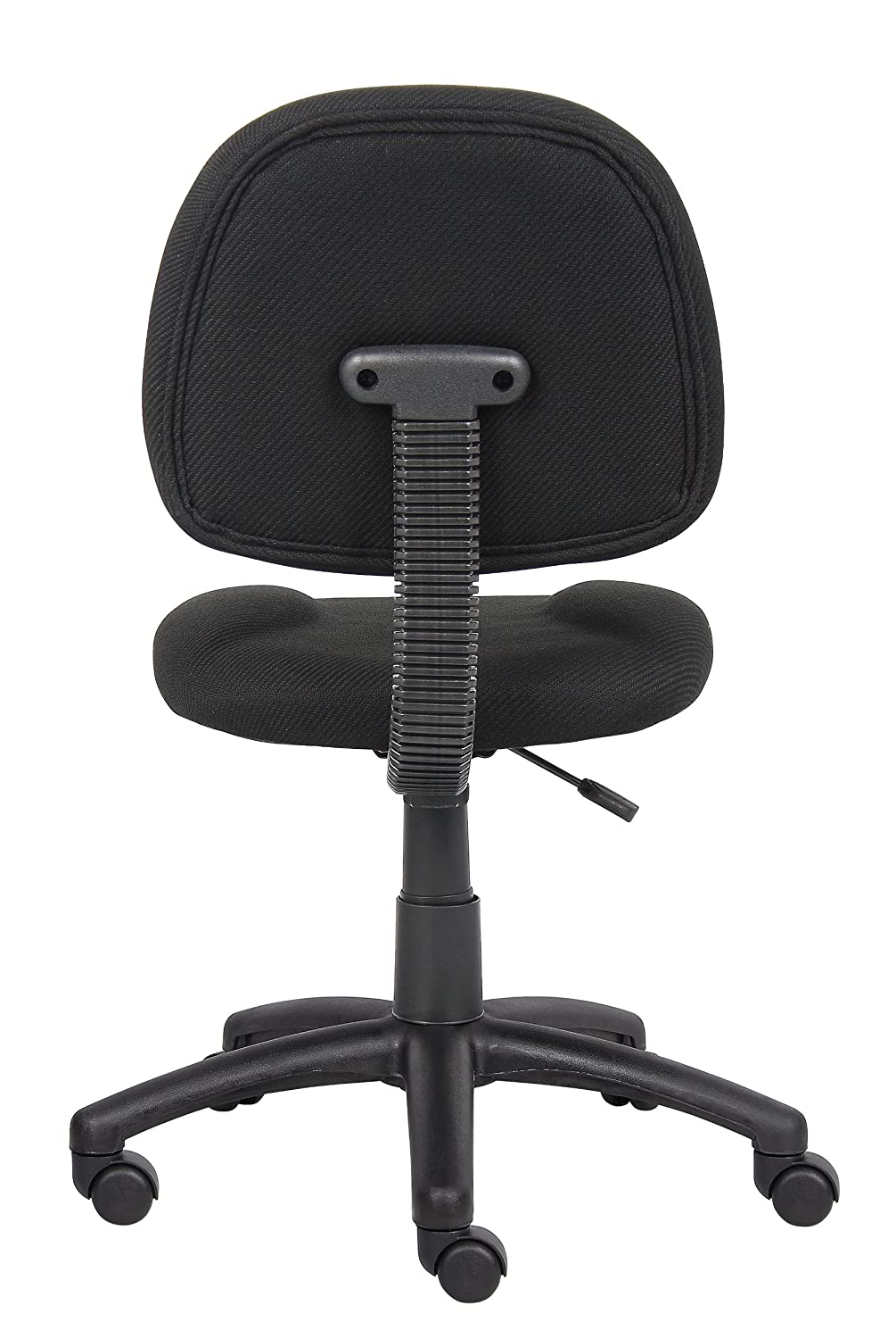 Amazon Boss Office Products B315 BK Perfect Posture Delux Fabric Task Chair Without Arms In Black Kitchen Dining