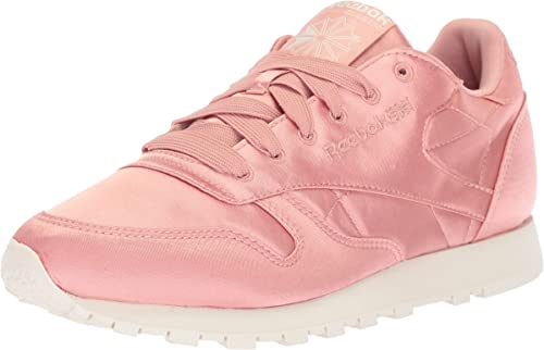 | Reebok Women's CL LTHR Satin Sneaker | Shoes