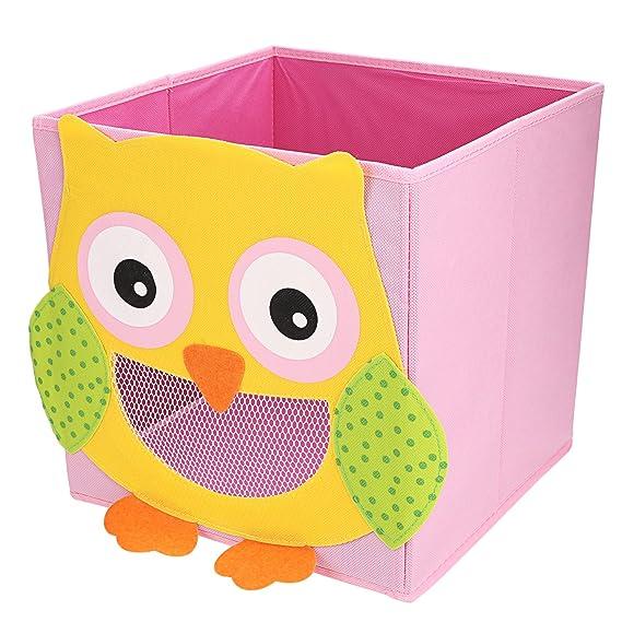 LEADSTAR Plegado Niños Juguetes Caja de almacenaje Animal Caja No Tejidos Organizador sin Tapa - Búho: Amazon.es: Hogar