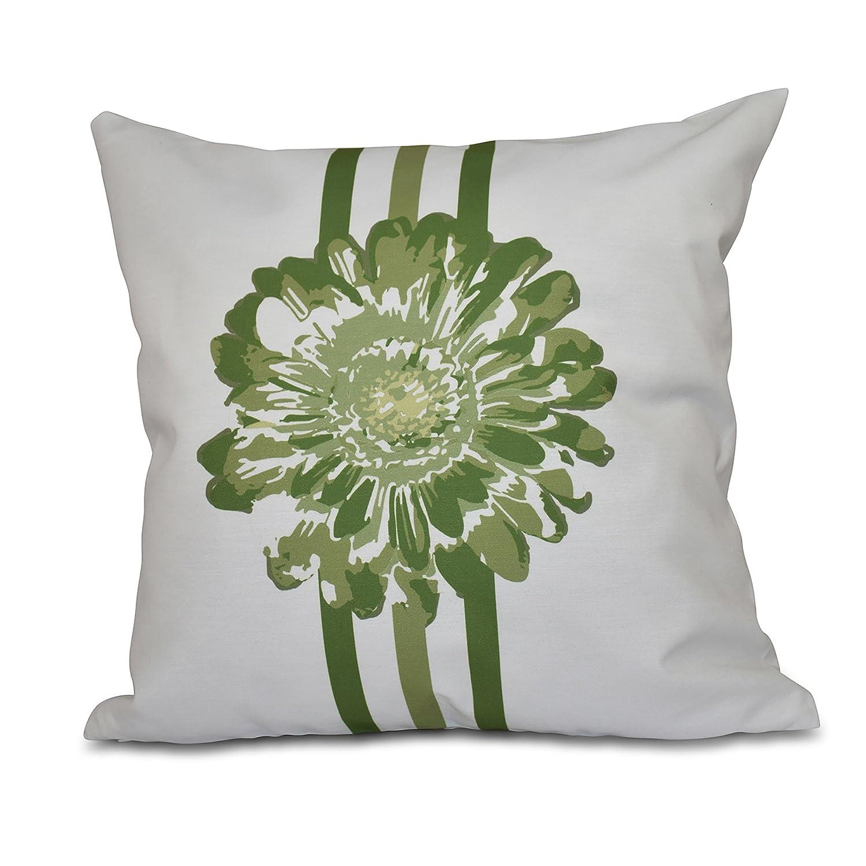 Flower Child E by design PFN554GR18GR17-26 26 x 26-inch Floral Print Pillow 26x26 Green