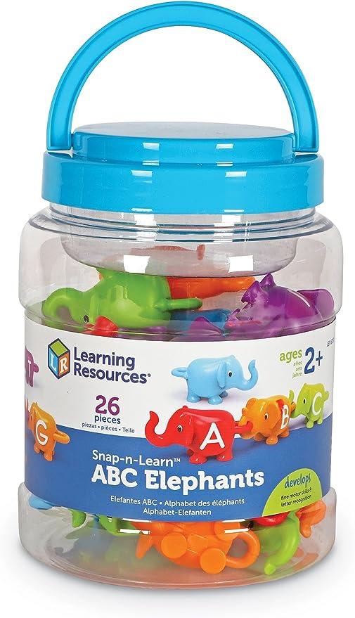LER6710 Learning Resources Alphabet des /él/éphants Snap-n-Learn