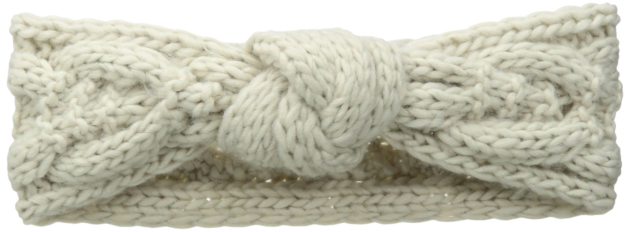 San Diego Hat Company Women's Cable Knit Knot Headband, Cream, One Size