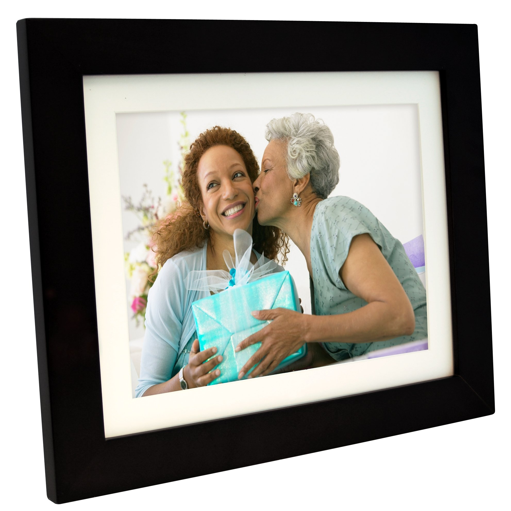 Pandigital PI1056DW 10.4-Inch Digital Picture Frame with 2 Interchangeable and Espresso Frame - 1GB