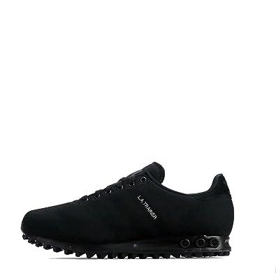 finest selection 884f9 50196 adidas Originals LA Trainer Weave Triple Black Men s Shoes (UK ...