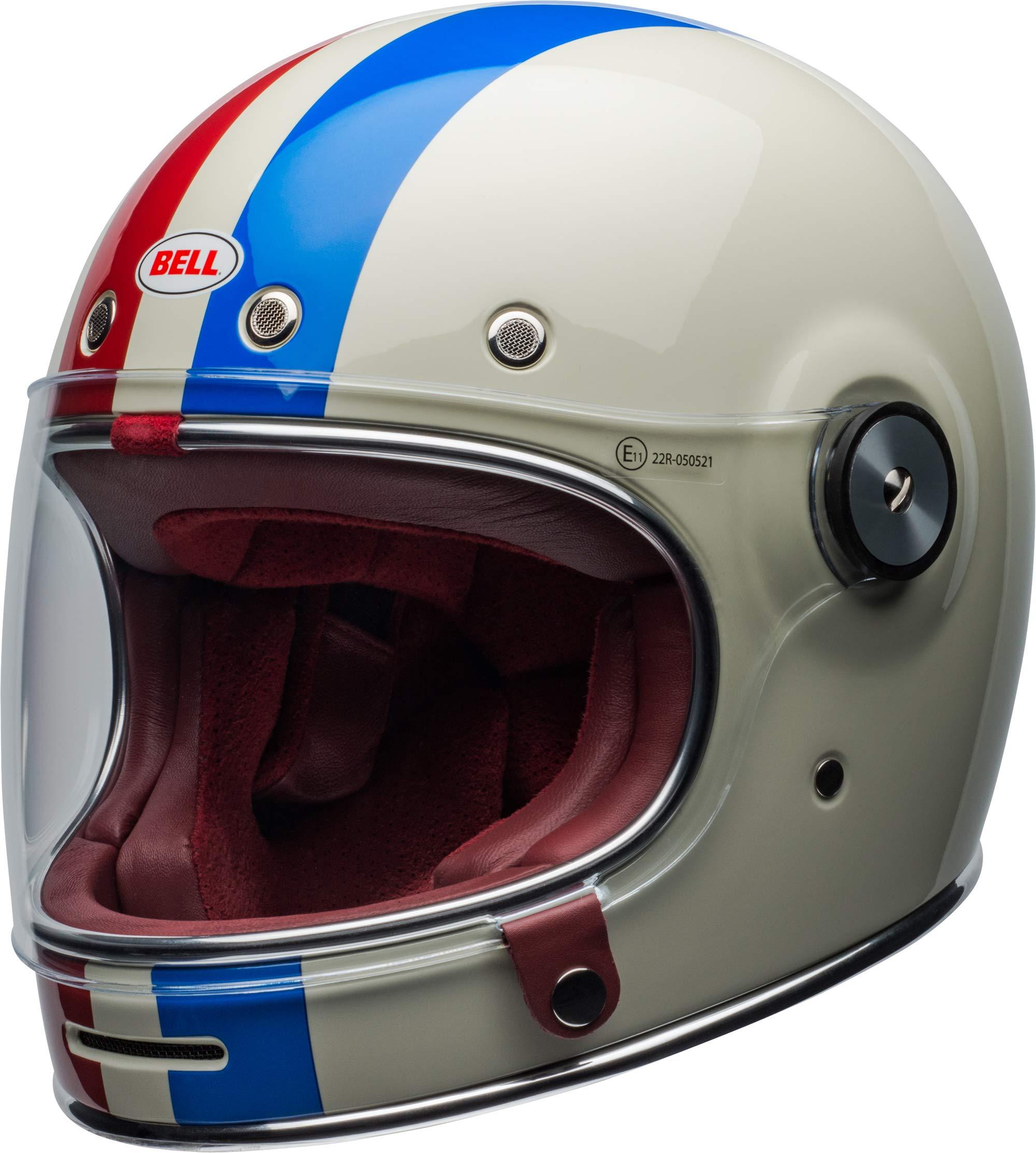 Bell Bullitt Helmet - Command (X-SMALL) (GLOSS VINTAGE WHITE/RED/BLUE) by Bell (Image #7)