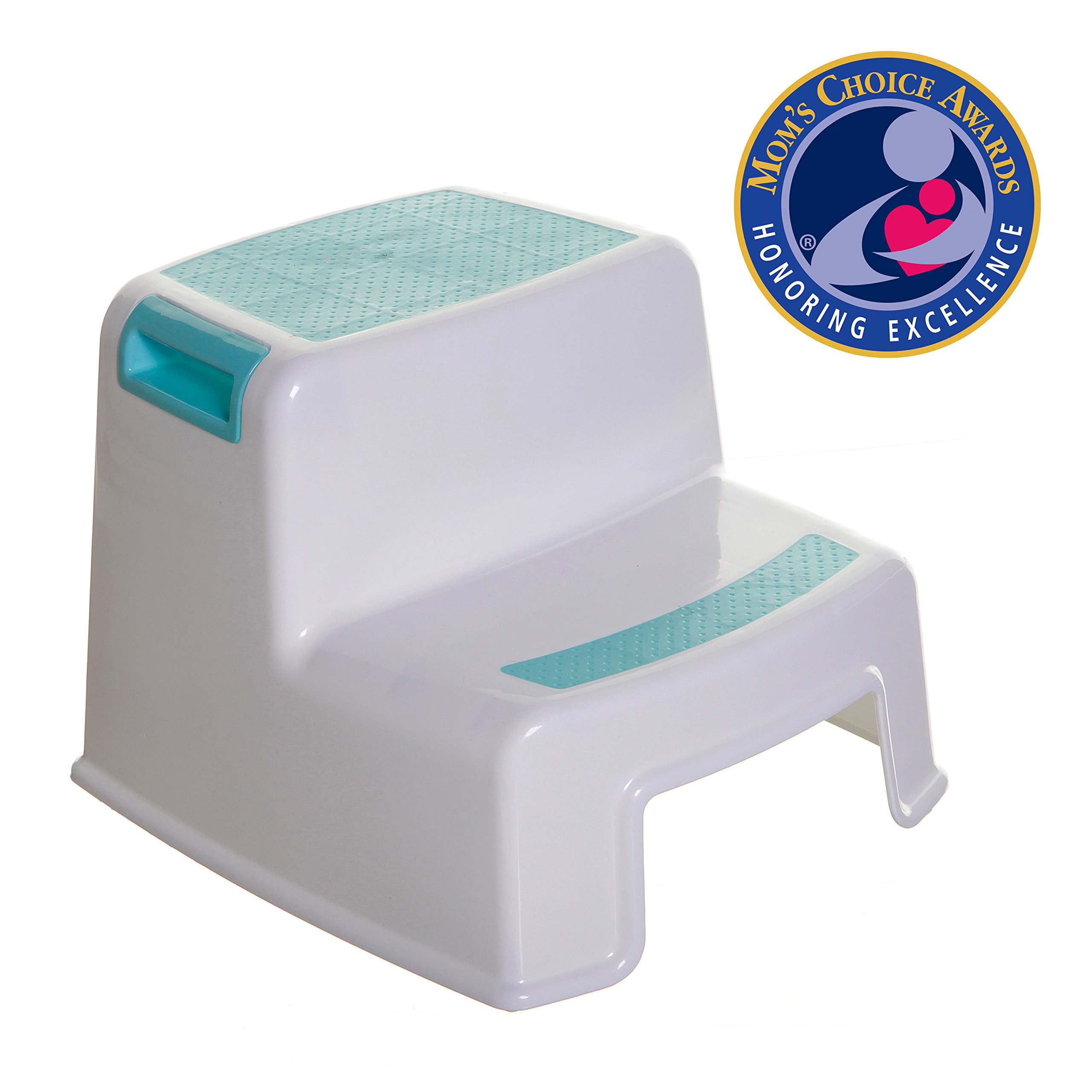Dreambaby L685 2-Step Stool - White/Aqua