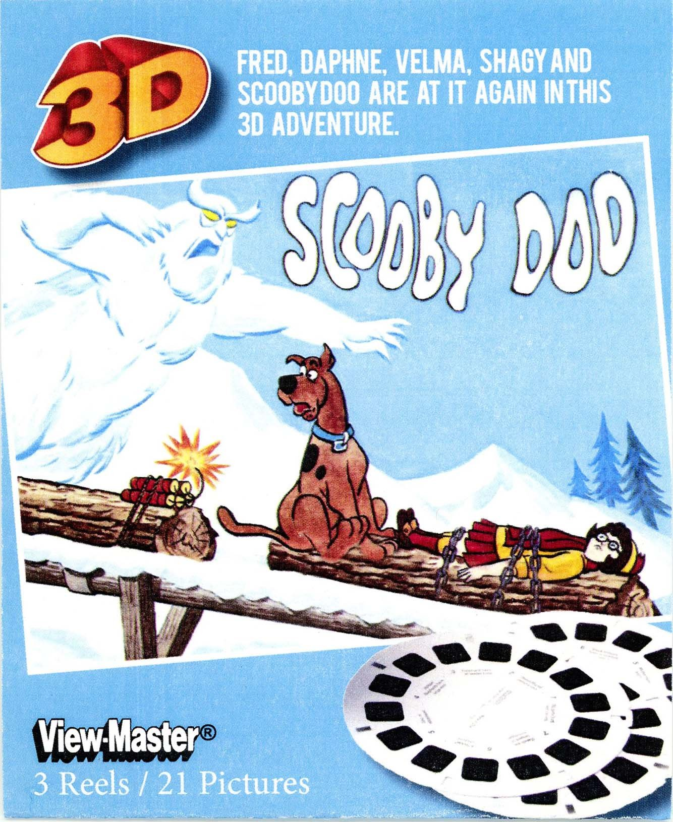 Scooby Doo View-Master 3 reel Set - 21 3-D Images