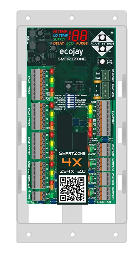 smartzone 4x control 4 zone controller kit w temp sensorsmartzone 4x control 4 zone controller kit w temp sensor universal replacement for honeywell zoning panel truezone hz432 \u0026 more amazon com
