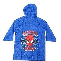 Spíderman Chubasquero Niños - Impermeable Marvel Tipo Chaqueta con Capucha y botones