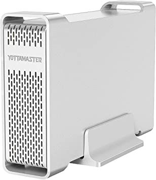 Yottamaster Aluminum USB3.0 3.5 Recinto del Disco Duro 10TB para 3.5 Pulgadas SATA HDD Soporte 10TB /& UASP