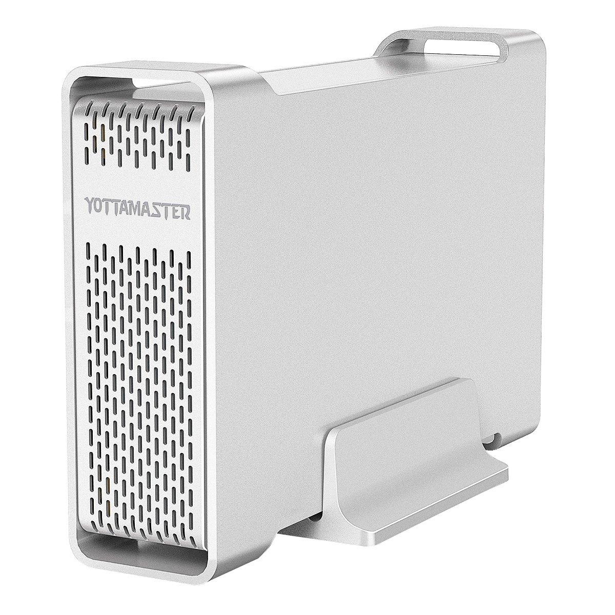 Aluminum YOTTAMASTER USB3.0 Hard Drive Enclosure 10TB for 3.5' SATA HDD [Support UASP]. Yottamaster Technology Co. Ltd