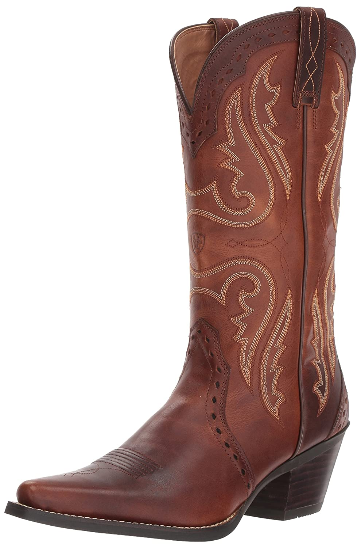 Ariat Women's Heritage Western R Toe Western Cowboy Boot B0039YLS46 6.5 B(M) US|Vintage Carmel