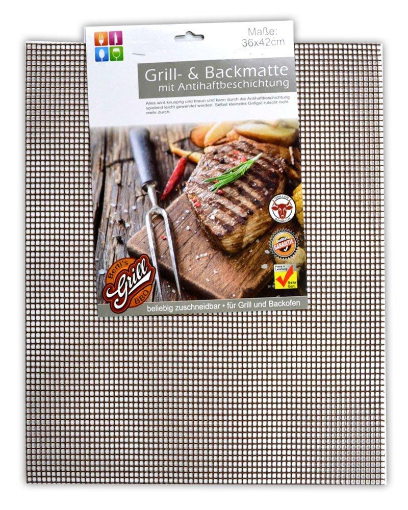 Grillunterlage Grillgitter Grill Unterlage Matte HAC24 4er Set Premium BBQ Dauer Grillmatte Antihaft f/ür Gasgrill und Holzkohle Wiederverwendbar Backmatte
