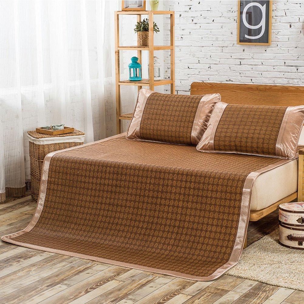 zaplawqi Summer Trellis Rattan mat/Thicken Foldable Rattan Table-A Queen1