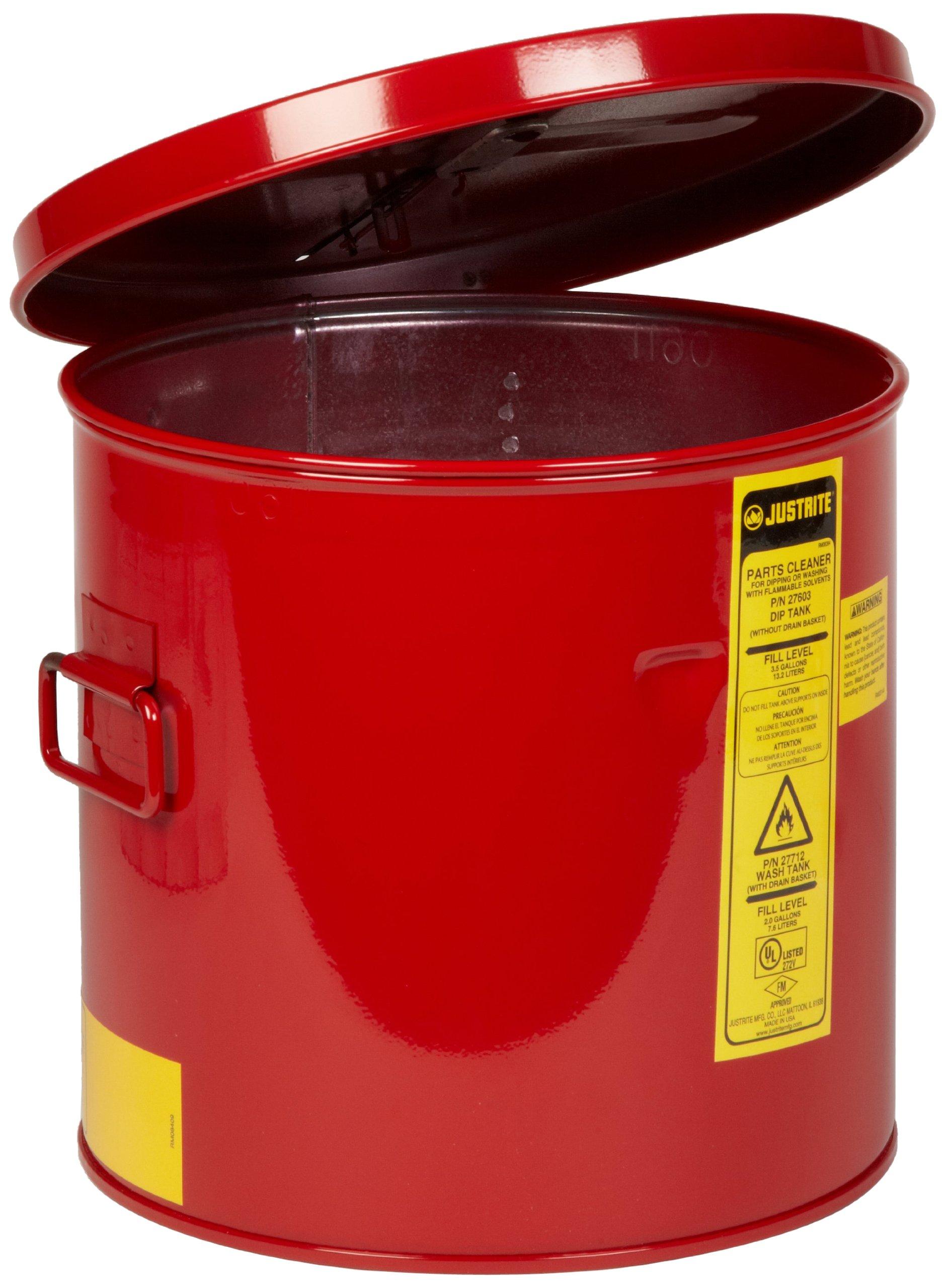 Justrite 27602 2 Gallon, 9 3/8'' x 10.00'' Size Dip Tanks