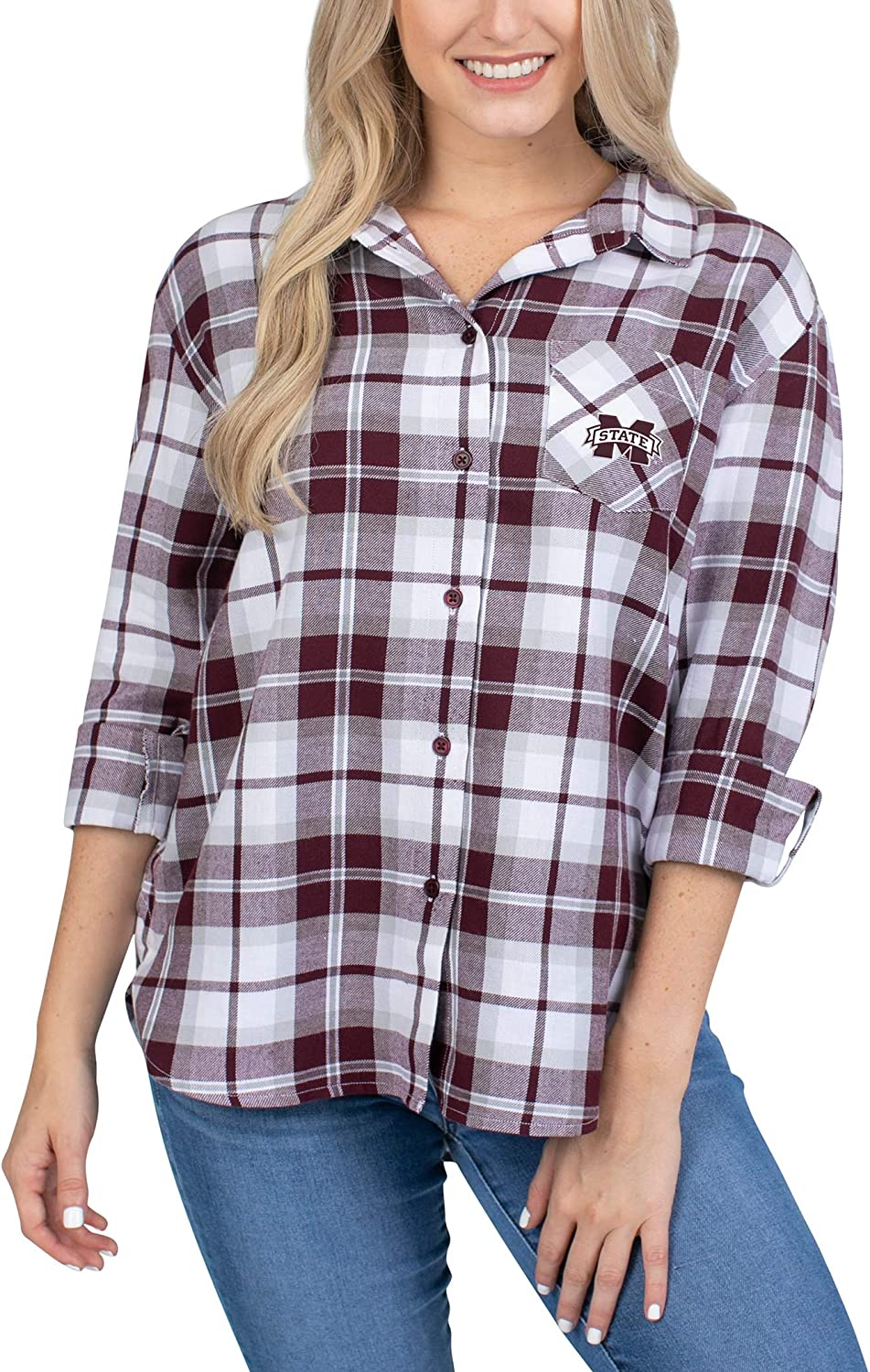 UG Apparel NCAA Womens Boyfriend Plaid