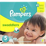 Pampers Swaddlers Disposable Diapers Size 5, 62 Count, SUPER