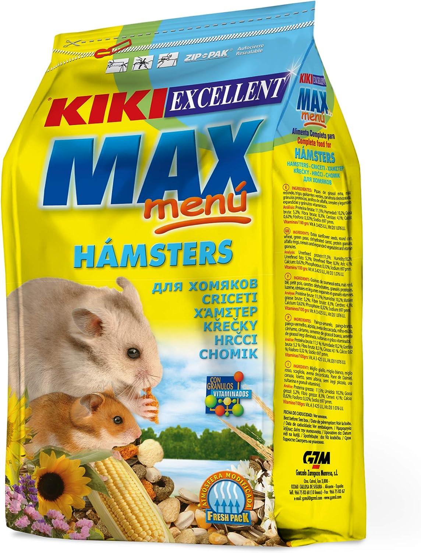 Kiki Excellent Max Menu - Alimento Completo para Hamsters, 1 kg