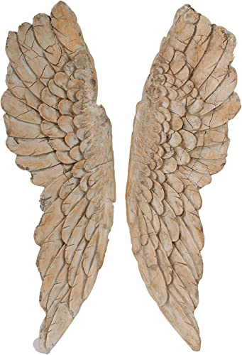 A B Home Hipster Wings Wall Art, 11.5 X 3 X 41-Inch, Set of 2