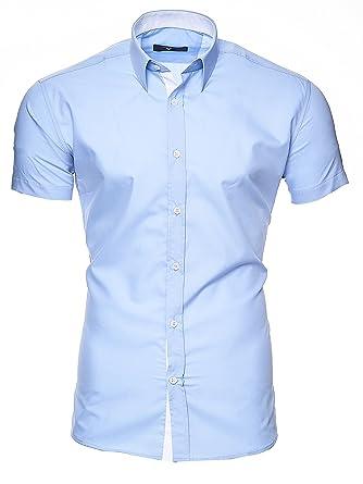 new styles 08396 c902d Kayhan Florida Herren-Hemd Slim-Fit Kurzarm-Hemden S-6XL