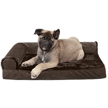 Amazon Com Furhaven Pet Dog Bed Deluxe Memory Foam Chaise Plush