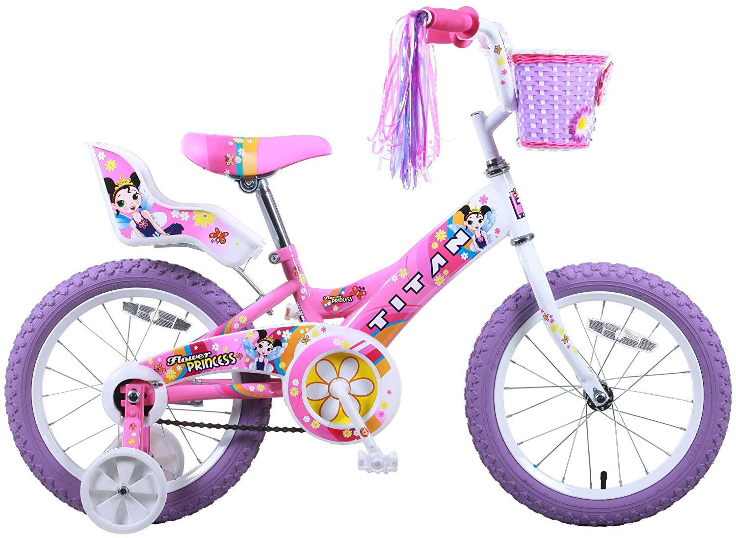 Titan Girl S Flower Princess Bmx Bike Pink 16 Inch