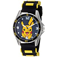 Boys' Analog Quartz Watch with Rubber Strap, Black, 21 (Model: POK9056AZ)