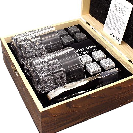 Whiskey Stones Gift Set Whiskey Glasses Set Gift for Men