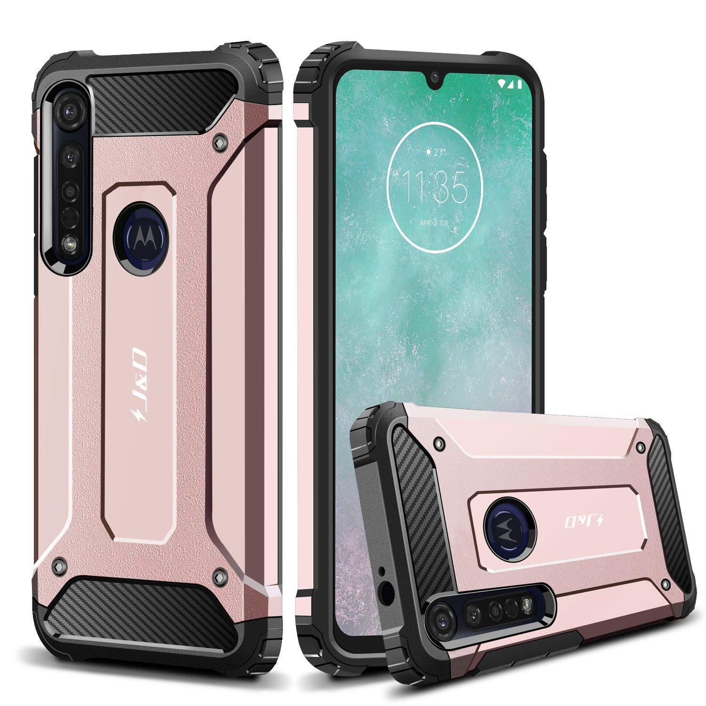 Funda Super Resistente Para Motorola G8 Plus, Rosa