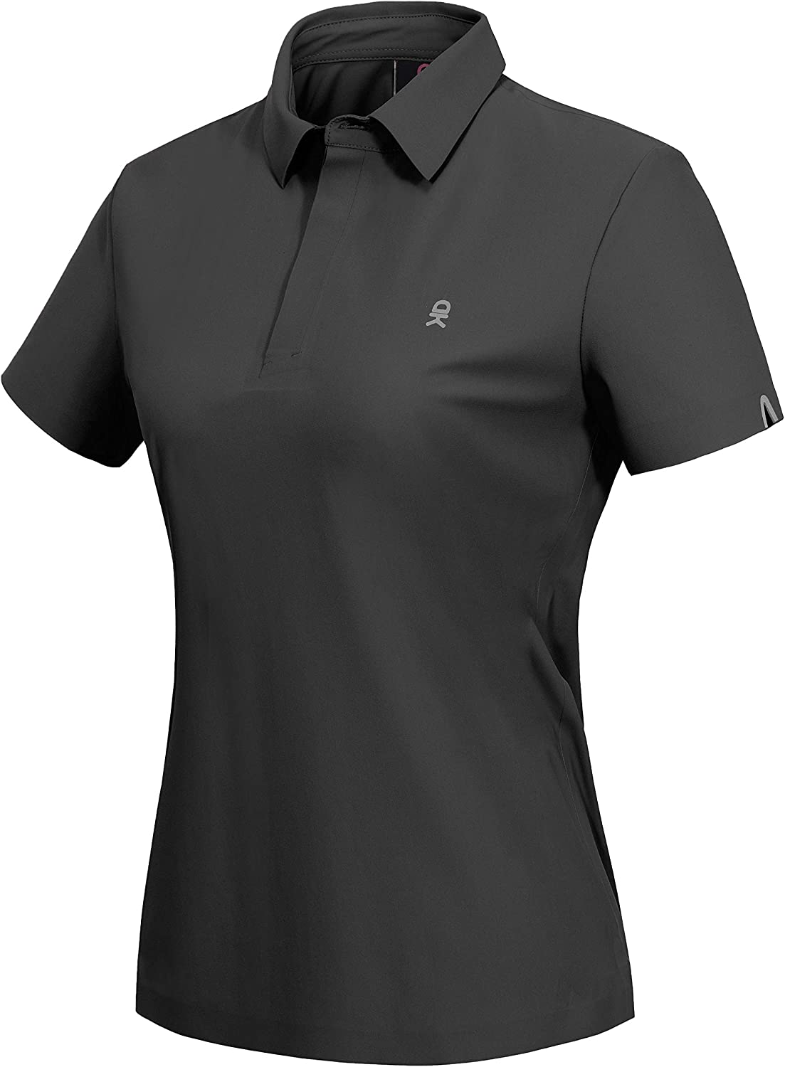 Little Donkey Andy Women's Stretch Short Sleeve Seamless Golf Polo Shirt with Laser Cuts, UPF 50, Quick Dry