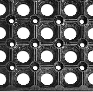 100x100 cm etm/® Gummil/äufer//Gummimatte Octo Roll L/änge bis 9.24 m w/ählbar rutschhemmende Ringgummimatte Meterware