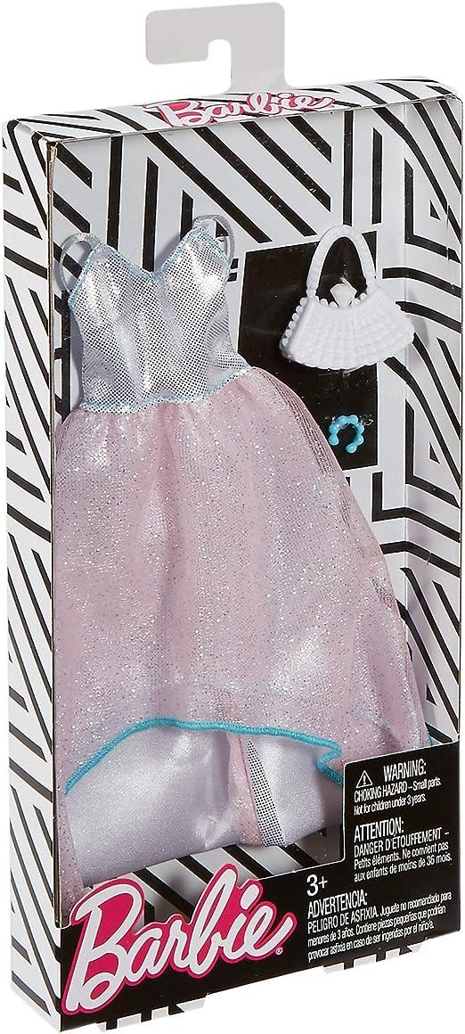 FKT11 Barbie Fashionistas v/êtements pour poup/ée robe de soir/ée translucide et scintillante jouet pour enfant